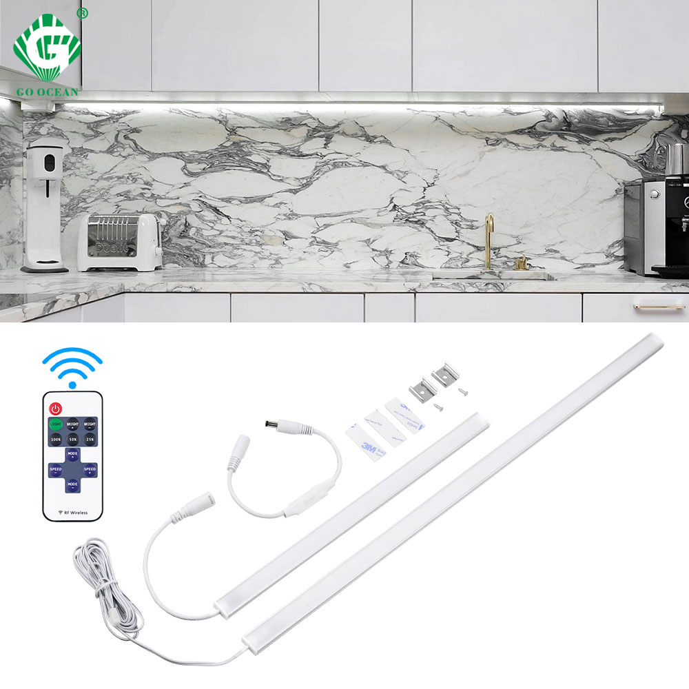 Memory Remote Control Switch Under Cabinet Light 12V DC 6W 8W 10W Kitchen Cabinet LED Lamp Wardrobe Bedroom Closet Lighting