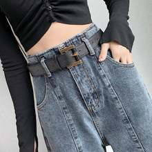Женские прямые свободные джинсы с высокой талией тонкие широкие