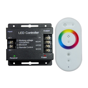 Image 2 - Led Controller 12 24V Touch Afstandsbediening Rgb Controller 24A 3 Kanaals Led Strip Licht Rf Controle Voor SMD5050 3528 Rgb Led Tape