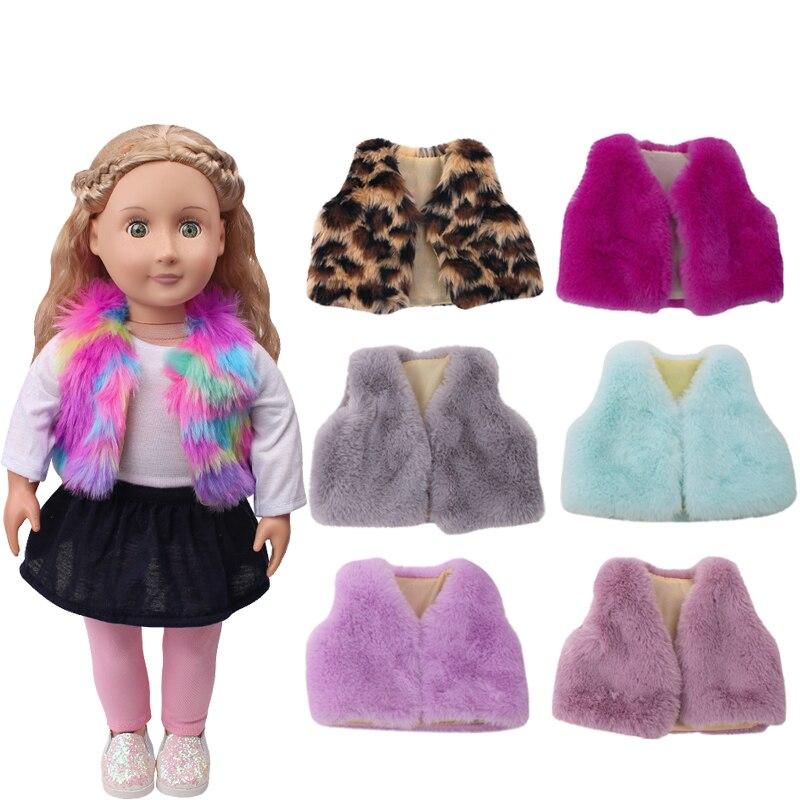 18 Inch Girls Doll Clothes Fur Vest Coat American Newborn Dress Accessories Baby Toys Fit 43 Cm Baby Dolls C702-c715