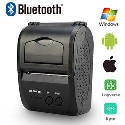 Mini impresora térmica Bluetooth de bolsillo 58mm Pos recibos portátil, máquina de facturas de impresora inalámbrica para ventanas de Android IOS