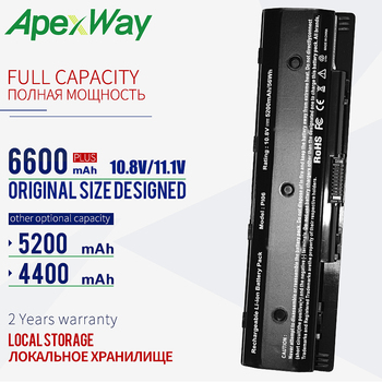 ApexWay 6 cells laptop battery PI06 for Hp Envy 15 17 TouchSmart 15 17 Pavilion 15 17 HSTNN-LB40 LB40O LB4N LB4O 15 6 ноутбук hp pavilion 15 cs2019ur 6sq16ea золотистый