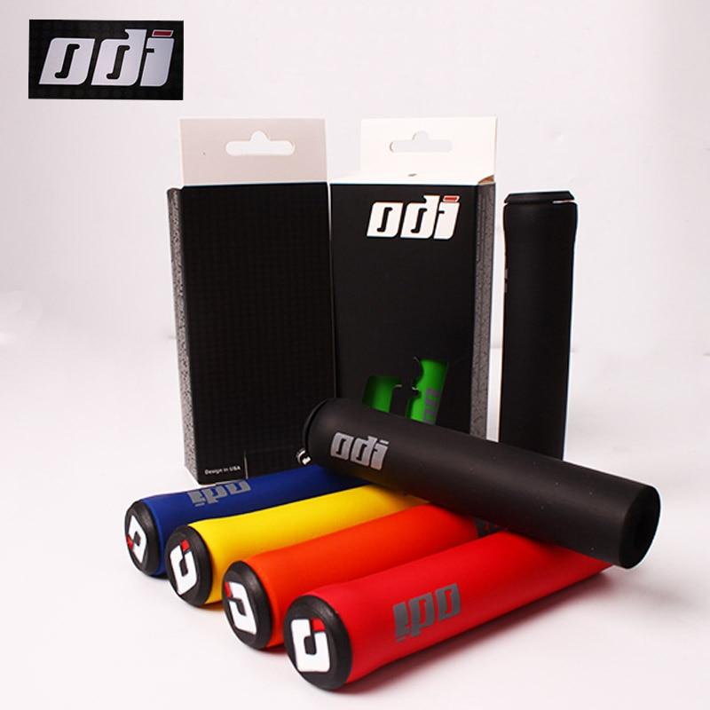 2 個 ODI 自転車グリップ MTB ハンドルグリップソフトマウンテンバイクシリコンハンドルバーグリップ自転車アクセサリー