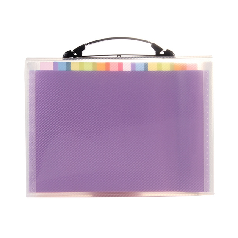13 Pocket Portable Expanding File Folders Accordion File Document Organizer w/ Colorful Tabs for Document T3LB