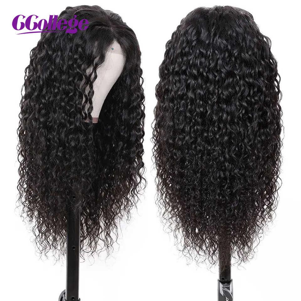 30 32 inç sırma ön peruk malezya su dalgası İnsan saç olmayan Remy saç dantel ön peruk ön koparıp 150 yoğunluklu kadınlar için