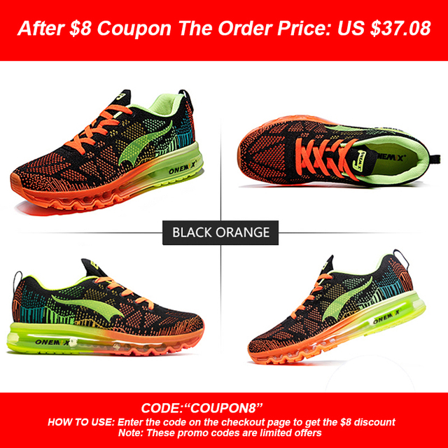 ONEMIX Men's Sport Running Shoes Music Rhythm Men's Sneakers Breathable Mesh Outdoor Athletic Shoe Light Male Shoe Size EU 39-47 1