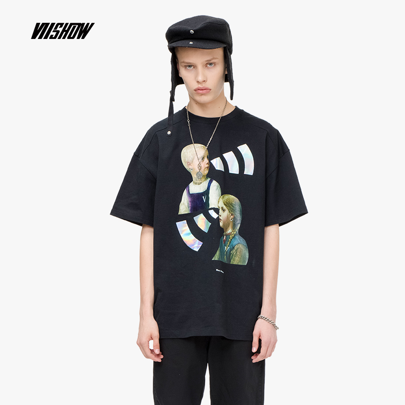 VIISHOW 2019 nouveau mode personnage motif noir t shirt hommes noir imprimé col rond T Shirt à manches courtes TD1450192-in T-shirts from Vêtements homme on AliExpress - 11.11_Double 11_Singles' Day 1