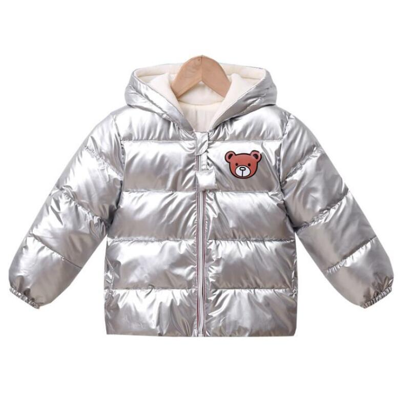 New Boys Girls Clothes Kids Casual Hooded Down Coats Autumn Winter Warm Fashion Outwear Children Solid Jacket For 2-6 Years 6