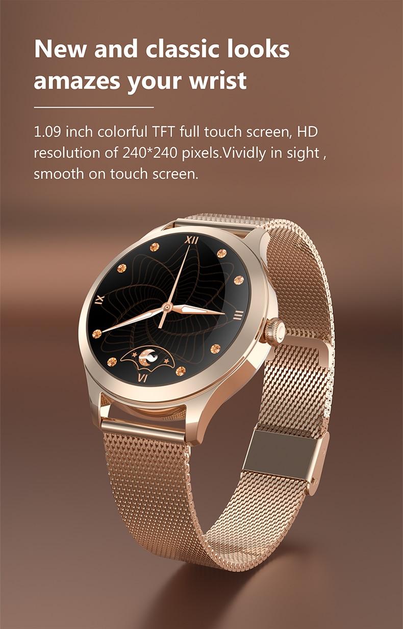 Kw10 pro relógio feminino monitor de freqüência