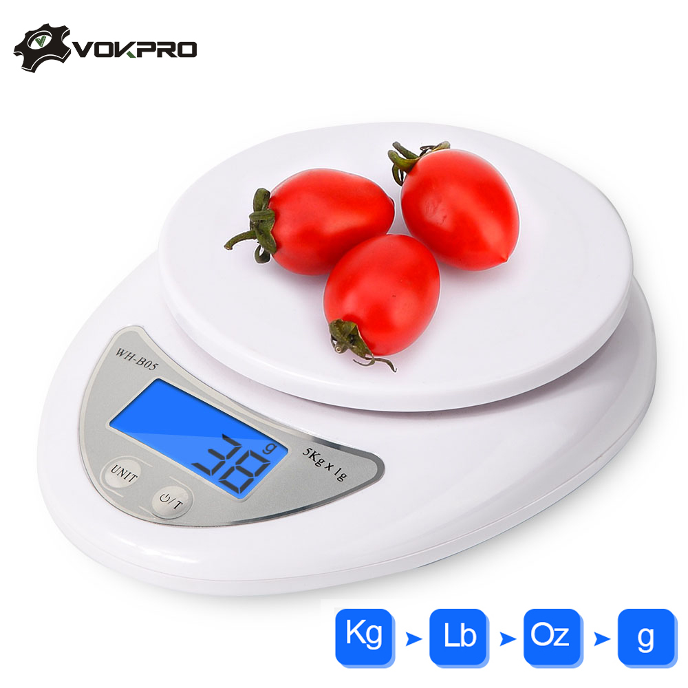 5kg/1g LCD Digital Scale For Kitchen Food Precise Portable Cooking Scale  Baking Scale Balance Measuring Weight Libra