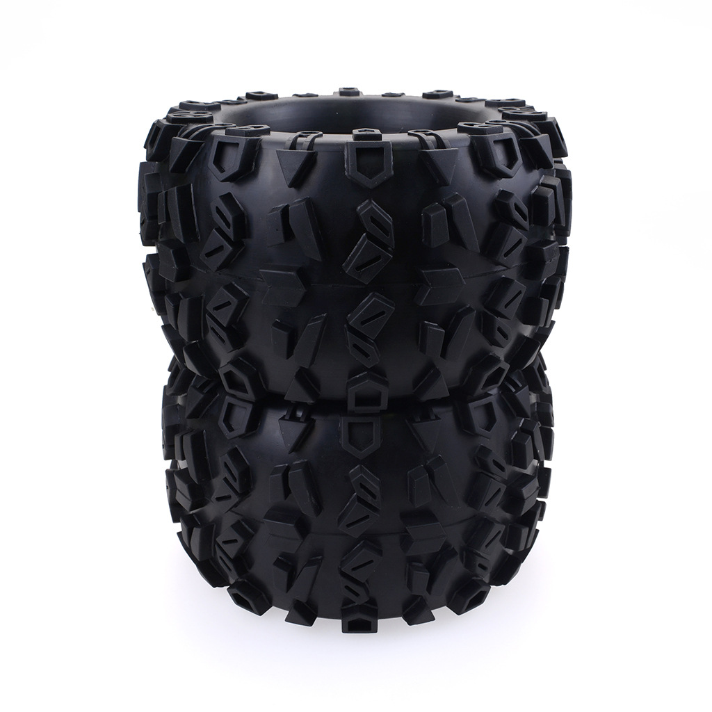 Rubber Tire Tyre 160mm W Metal Wheel Rim for HPI Savage Flux 1//8 RC Buggy 4x