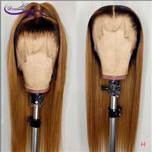 Dream Beauty Straight 1b/27 Honey Blond Color Brazilian Remy Hair With Baby Hair High Ratio 13X4/13x