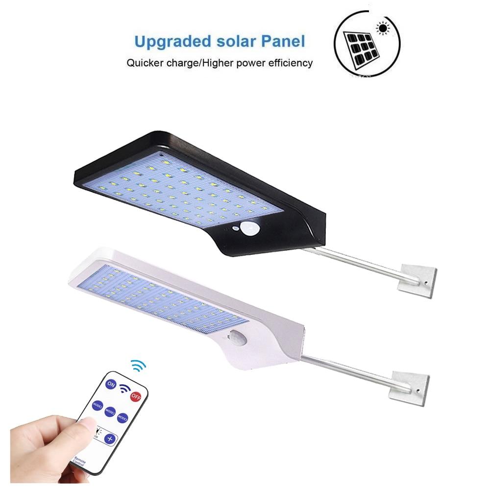 Aluminum Pole Solar Street Light 36/48 LED Solar Light Three Modes Black Waterproof Outdoor Led Lamp G Spot Solar Lamps S Spot F
