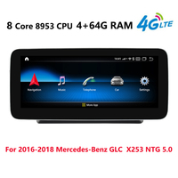 Android 9.0 8Core 4+64G Car radio multimedia Player GPS Navi or Mercedes Benz GLC X253 2016 2017 2018 NTG 5.0 4G LTE