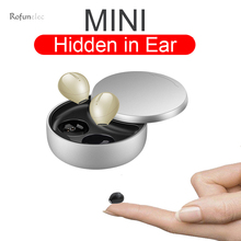 Mini Hidden Bluetooth Earphones Wireless Headset Inear Micro Earbuds With Microphone Stereo Earpiece For Small Ears Invisible