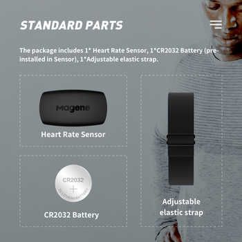 Magene NEW Model H64 Bluetooth4.0 ANT + Heart Rate Sensor Compatible GARMIN Bryton IGPSPORT Computer Running Bike Monitor