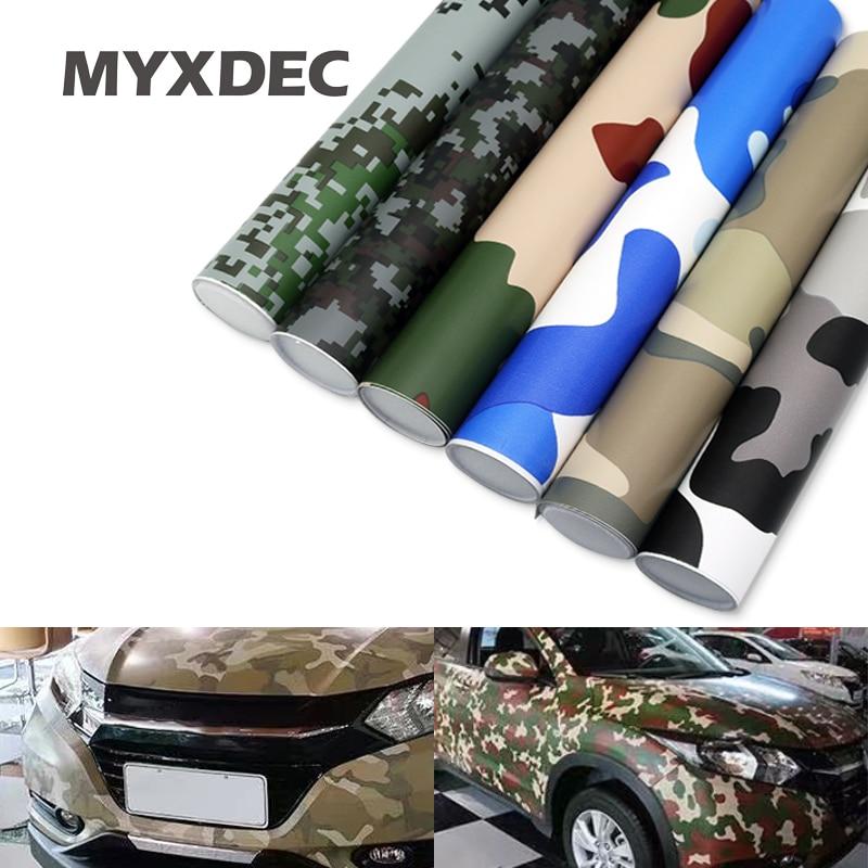 MYXDEC 30cm Breit Premium Camo Auto Aufkleber Vinyls PVC Motorrad Aufkleber Film Army Military CAMO Camouflage Grün Woodland Aufkleber