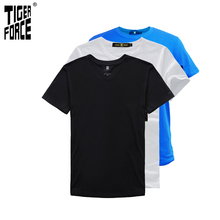 LUCKY PACKAGE Big Sale Big Discount Collocation Freely 3pcs/Set 100% Cotton Short Sleeve T Shirt Men Clothing