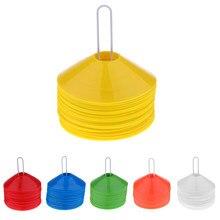 50 Stuks Voetbal Disc Kegels-Boundary Marker, agility Training Aids-6 Kleuren-Klik In Voor Meer Details