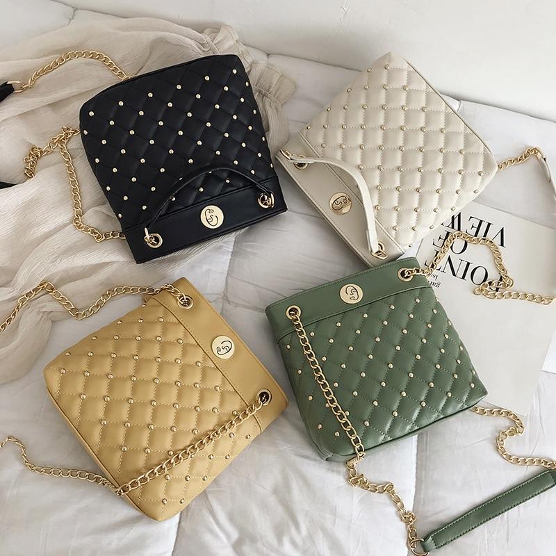 2019 Women Bags Designer High Quality PU Leather Crossbody Casual Tote Femal fashion Lingge Handbag ZX-077.
