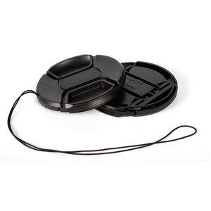 Image 5 - 10 unids/lote 49 52 55 58 62 67 72 77 82 86mm Centro pinch Snap on cap cover LOGO para canon nikon lente de cámara
