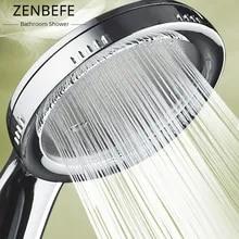 Nozzle Shower-Head Bathroom-Accessories Rainfall Pressurized Chrome Water-Saving ABS