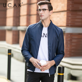 UCAK Brand Jacket Men Free Shipping Solid Zipper Jackets 2020 New Fashion Polyester Chaquetas Hombre Clothes Free Shipping U8042 цена 2017