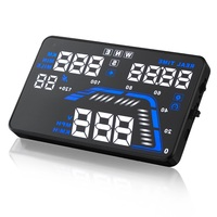 Q7 5.5 Universal GPS HUD Head Up Display Dashboard Mounted Projector for Speed Data Time Over Speed Alarm Compass Altitude