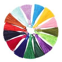 10pcs/lot 8-9cm Colorful Cotton  Silk Tassel Earring Chain Making  Tassels Pendant Diy Jewelry Findings Handmade Crafts supply