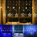 LED String Lichter Pentagramm Stern Vorhang Licht Fee Hochzeit Geburtstag Weihnachten Beleuchtung Indoor Dekoration Licht 220V IP44