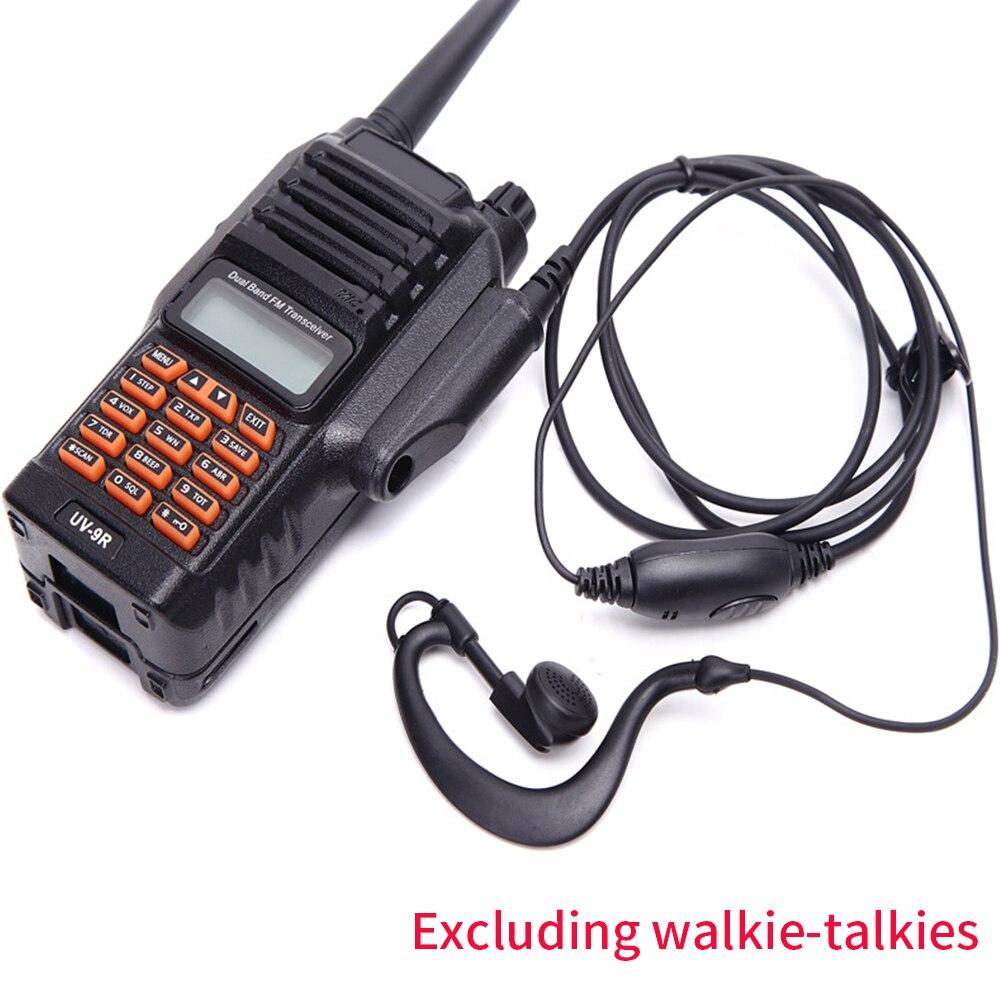 Ergonomic Professional Walkie Talkie Waterproof Accessories Portable Earhook Audio Earphone G Shaped MIC PTT For Baofeng UV-9R