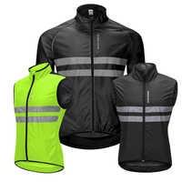 WOSAWE veste réfléchissante haute visibilité veste résistance à l'eau gilet de course nuit équitation gilet de sécurité vtt vêtements de cyclisme