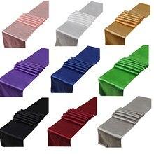 1 шт. 30x275 см 22 цвета атласные настольные дорожки для украшения свадебной вечеринки, современный чехол для стола, Новогодний Декор для дома