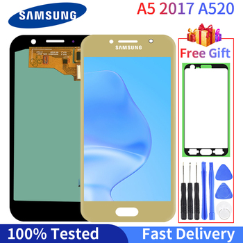 100% Tested LCD For Samsung Galaxy A5 2017 A520 LCD Display A520F SM-A520F  Touch Screen Digitizer Assembly Replacement Part 100% tested aaa quality for samsung galaxy a5 2015 a500 a500f a500m replacement lcd display with touch screen digitizer assembly