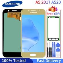 100% протестированный OLED для Samsung Galaxy A5 2017 A520 LCD A520F SM-A520F дисплей сенсорный экран дигитайзер в сборе Запасная часть