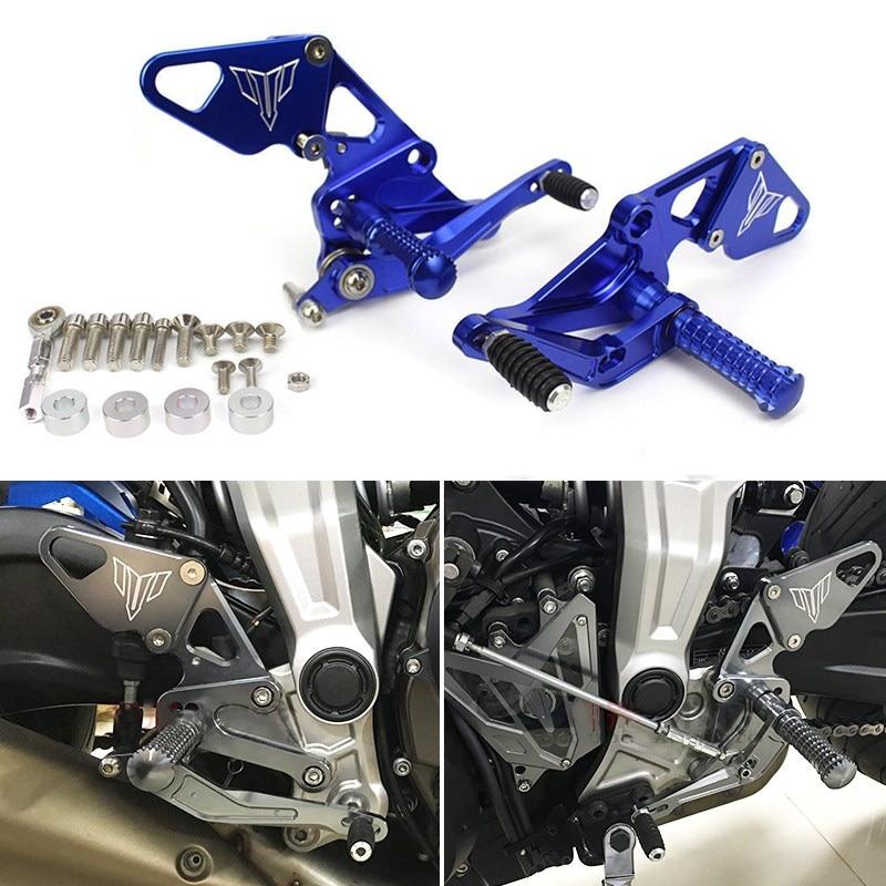 CNC Adjustable Rear Sets Rearset Footrest Foot Rest Pegs For Yamaha MT-07 FZ-07 FZ MT 07 FZ07 MT07 2013 2014 2015 2016 2017 2018
