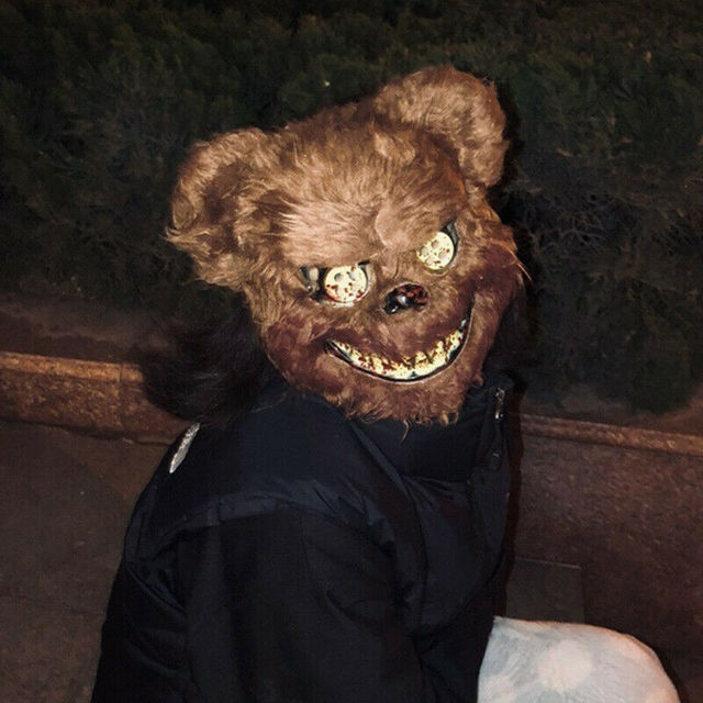 Halloween Scary Bloody Latex Animal Wolf Head With Hair Mask Fancy Dress Costume Party Horror Mask Adult/Kids 4