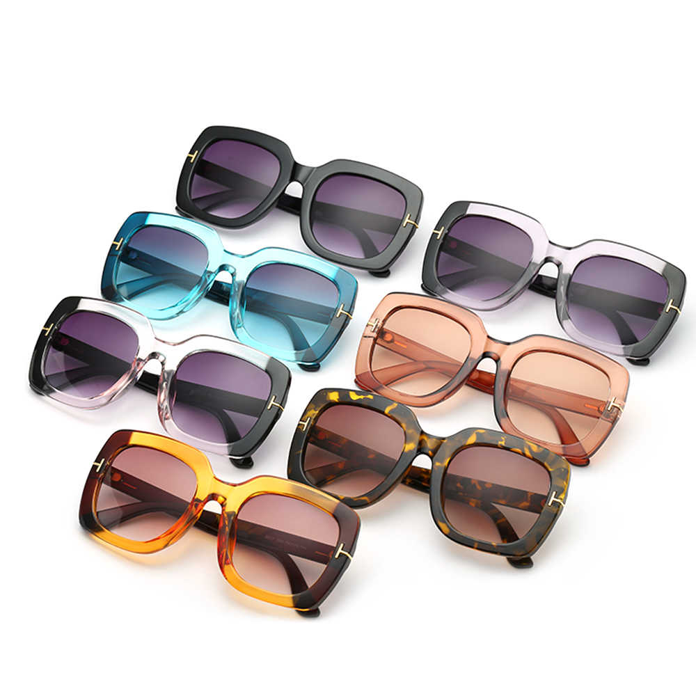 Fashion Women Square Frame Cycling Bicycle Sunglasses UV400 Protection Lens Double Colors Outdoor Sun Glasses Female Eyewear
