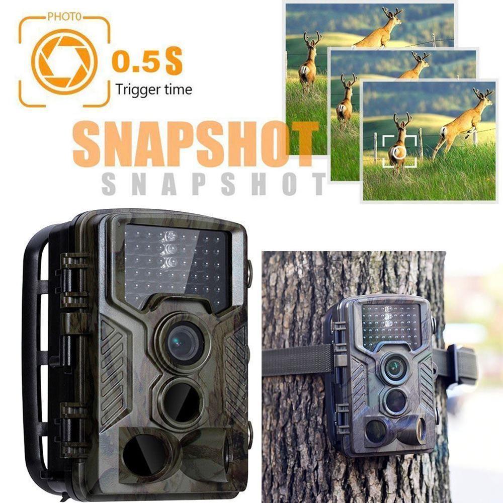 HC800A caméra de chasse vidéo 16 mp 1080P HD | Caméra de Vision nocturne 42 led, piège à caméras de suivi IR