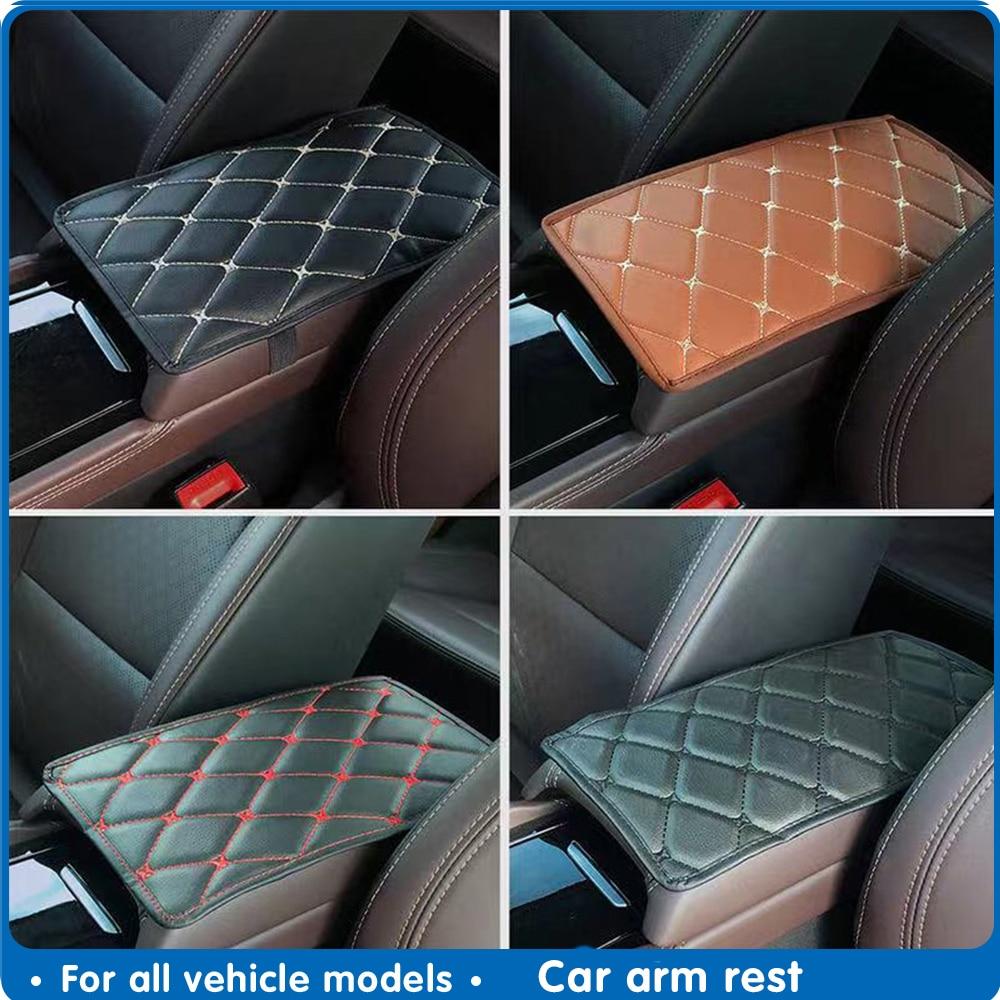 Car Armrest Mat Auto Interior Armrests Storage Box Mats Leather Storage Box Carpet Protector Pad Goods Auto Armrest Mat