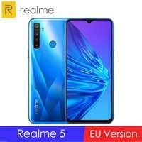 EU Version OPPO Realme 5 6.5'' 3/4GB RAM 64/128GB ROM Snapdragon 665 AIE Octa-Core 5000mAh 12MP+13MP Quad Cameras Mobile Phone