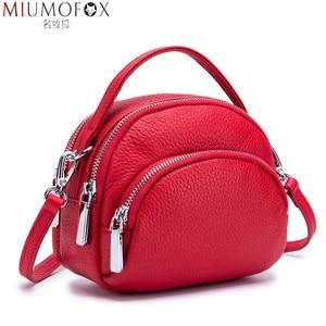 Image 1 - حقيبة ساعي الإناث جلد طبيعي السيدات حقائب كتف العلامة التجارية حقيبة يد نسائية صغيرة Damestas لصور السيدات لينة شكل قذيفة جديدة