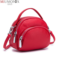 Messenger Bag Female Genuine Leather Ladies Shoulder Bags Brand Small Women Handbag Damestas Voor Dames Soft New Shell Shape