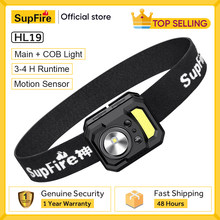 New Supfire HL19 MINI LED Headlamp Best For Camping Bicycle Fishing Lantern, USB Rechargeable Sports Running Powerful Headlight