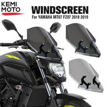 Dla YAMAHA MT07 FZ07 2018 2019 motocykl szyby przedniej MT 07 FZ 07 MT 07 Parabris akcesoria motocyklowe deflektor wiatru