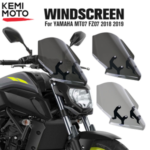 Image 1 - For YAMAHA MT07 FZ07 2018 2019 Motorcycle Windscreen Windshield MT 07 FZ 07 MT 07 Parabris Motorcycle Accessories Wind Deflector