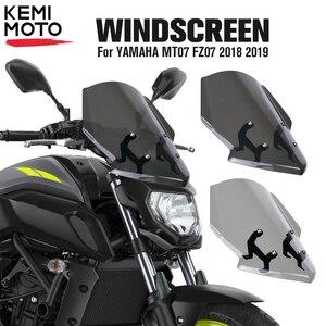 Image 1 - ヤマハMT07 FZ07 2018 2019オートバイフロントガラスフロントガラスMT 07 FZ 07 mt 07 parabrisオートバイアクセサリー風偏向器