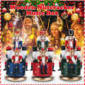 21cm Wooden Nutcracker  Nutcracker Doll Puppet Music Box for Home Christmas Decoration Ornaments Gifts Figurines