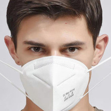 kN95 mask adult vertical non-woven respirator PM 2.5 95% respirator mask gauze filter mask 300 pcs mask respirator filter pads disposable antivirus smog prevention for respirator filter pads