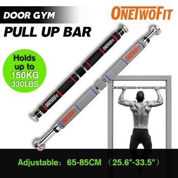 цена ONETWOFIT Pull Up Bar Door Fram Horizontal Bar Home Gym Workout Chin Up Bar Training Exercise Fitness Equipment Deporte en Casa онлайн в 2017 году